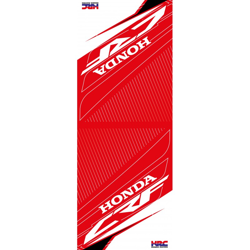 tapis de sol honda racing blanc mxworld. Black Bedroom Furniture Sets. Home Design Ideas