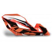 Protèges mains XFUN Cosmo Orange Fluo + Kit déco KTM