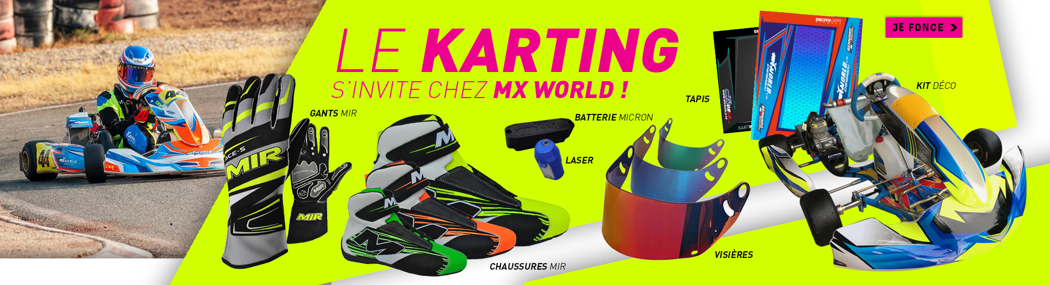Le Karting s'invite chez MxWorld